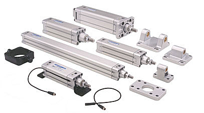 Square Profile Pneumatic cylinders - VDMA